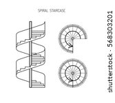 Spiral Staircase Vector Image...