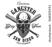 Gangster Emblem  Label  Print ...