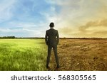 asian businessman standing... | Shutterstock . vector #568305565