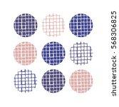 cute sets line texture. hand... | Shutterstock .eps vector #568306825