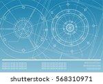 vector mechanical engineering... | Shutterstock .eps vector #568310971