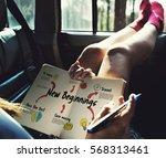 new beginning solution goals... | Shutterstock . vector #568313461