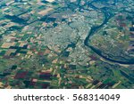 aerial view of bundaberg and... | Shutterstock . vector #568314049