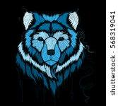 spirit bear . winter bear .... | Shutterstock .eps vector #568319041