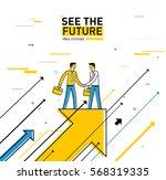 businessmen shaking hands | Shutterstock .eps vector #568319335