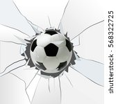 sport vector illustration with... | Shutterstock .eps vector #568322725