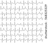 seamless pattern of the ekg... | Shutterstock .eps vector #568325329