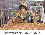 portrait of an african american ... | Shutterstock . vector #568325635