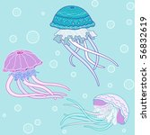 Background With Jellyfish ...