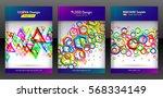 geometric set of hexagon ...   Shutterstock .eps vector #568334149