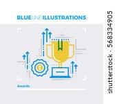 blue line illustration concept... | Shutterstock .eps vector #568334905