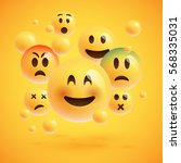 realistic yellow emoticons in