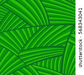 seamless abstract jungle leaf... | Shutterstock .eps vector #568343041