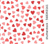 seamless hearts pattern | Shutterstock .eps vector #568343161