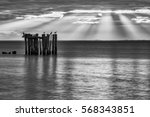 sunset and sea  baltic sea with ... | Shutterstock . vector #568343851