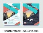 poster flyer pamphlet brochure... | Shutterstock .eps vector #568346401