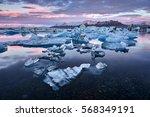 iceland  jokulsarlon lagoon ... | Shutterstock . vector #568349191