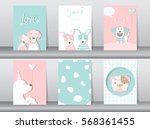 set of cute animals poster... | Shutterstock .eps vector #568361455