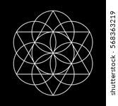 Flower Of Life. White Vector...
