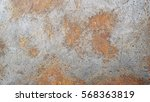 rusted on surface of the old... | Shutterstock . vector #568363819