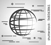 flat line design graphic image... | Shutterstock .eps vector #568363861