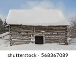 Old Outbuilding Sawn Log Cabin...