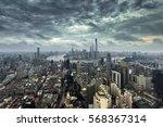 shanghai cityscape and skyline... | Shutterstock . vector #568367314