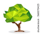 green geometric tree formed by... | Shutterstock .eps vector #568370425