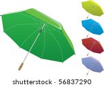 3d vector umbrella | Shutterstock .eps vector #56837290