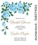 bridal shower or wedding... | Shutterstock .eps vector #568374061