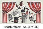 Set Of Vintage Illustrations...