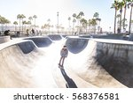 cool skateboarder outdoors  ... | Shutterstock . vector #568376581