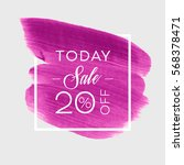 sale today 20  off sign over... | Shutterstock .eps vector #568378471
