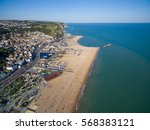 Aerial Shot Of The Beach At...