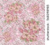 seamless illustration. flowers...   Shutterstock . vector #568398985