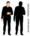 vector  isolated  silhouette of ... | Shutterstock .eps vector #568401364