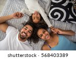 close up portrait from above of ... | Shutterstock . vector #568403389