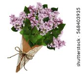 Lilac Flowers Bouquet In A...
