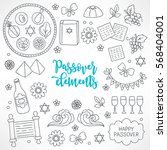 hand drawn passover design...   Shutterstock .eps vector #568404001