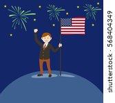 man flag usa vector illustration | Shutterstock .eps vector #568404349