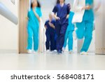 team of doctors in a great hurry | Shutterstock . vector #568408171