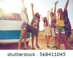 summer holidays  road trip ... | Shutterstock . vector #568411045