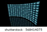 distorted curved video wall... | Shutterstock . vector #568414075