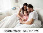 people  family and morning... | Shutterstock . vector #568414795