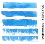 collection of blue brushes.... | Shutterstock .eps vector #568415731