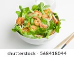 shrimp salad with cherry... | Shutterstock . vector #568418044