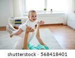 family  child and parenthood... | Shutterstock . vector #568418401