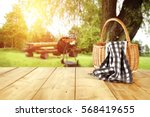 wooden old table of free space... | Shutterstock . vector #568419655
