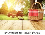 wooden old table of free space... | Shutterstock . vector #568419781