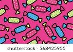 memphis decorative seamless... | Shutterstock .eps vector #568425955
